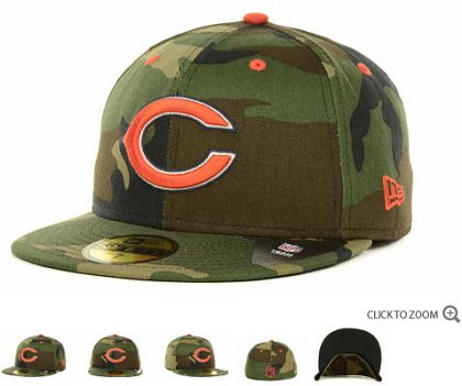 Chicago Bears 2013 NFL Fitted Hat 60D11